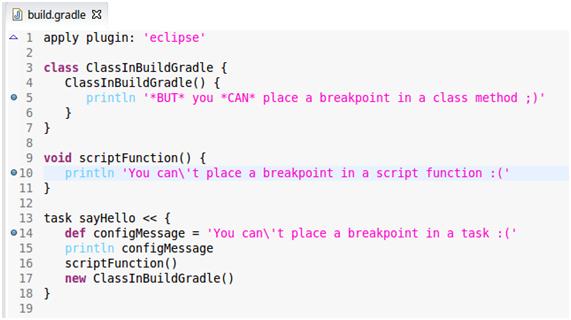 Debugging build gradle with Eclipse | Software Development