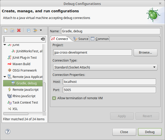 Debugging tests with Gradle and Eclipse | Software Development